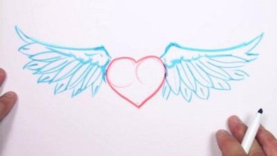 Coeur ailes